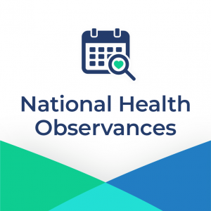 National Health Observances Graphic