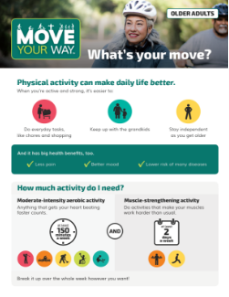 Thumbnail of Move Your Way Fact Sheet for older adults