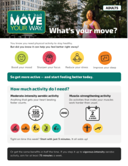 Thumbnail of Move Your Way Fact Sheet for adults