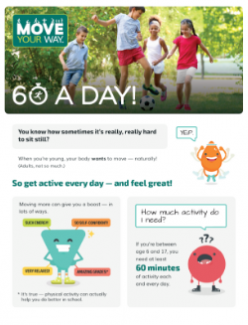 Thumbnail for Move Your Way Fact Sheet for kids