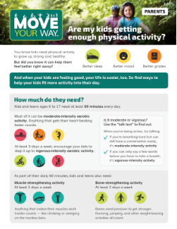 Thumbnail for Move Your Way Fact Sheet for parents