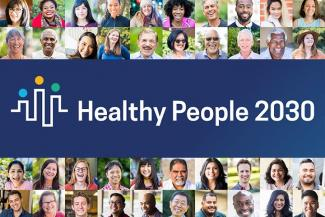 Healthy People 2030 Logo with Many People