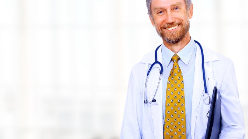 Health care provider smiling